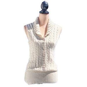 Moda International Cable Knit Vest